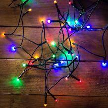 LED fényfüzér, multi, 120 LED, 9,6 méter KDL 125