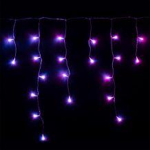 Twinkly okos jégcsapfüzér, 190 LED, 5 x 0,5 m, átlátszó kábel, RGB KTW 119