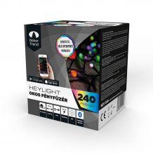 Dekortrend Heylight okos fényfüzér, 240 RGB LED, fekete kábel, 24 méter KBT 240