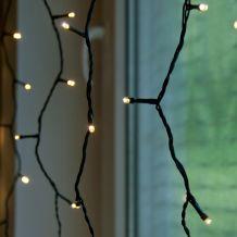 Kültéri LED fényfüggöny, Meleg fehér, 1 x 4 méter KDK 011