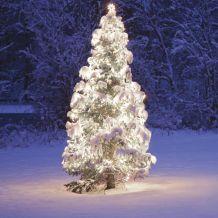 Kültéri toldható fényfüzér, Hideg fehér, 50 LED, 5 méter KDK 003
