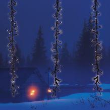 Meteor fényfüggöny, hideg fehér, fekete kábel, 2x1 méter, 480 LED KDF 001