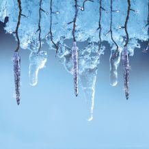 Stiria jégcsapfüzér, átlátszó kábel, hideg fehér szín, 65 LED, 2x0,5 méter KDS 065