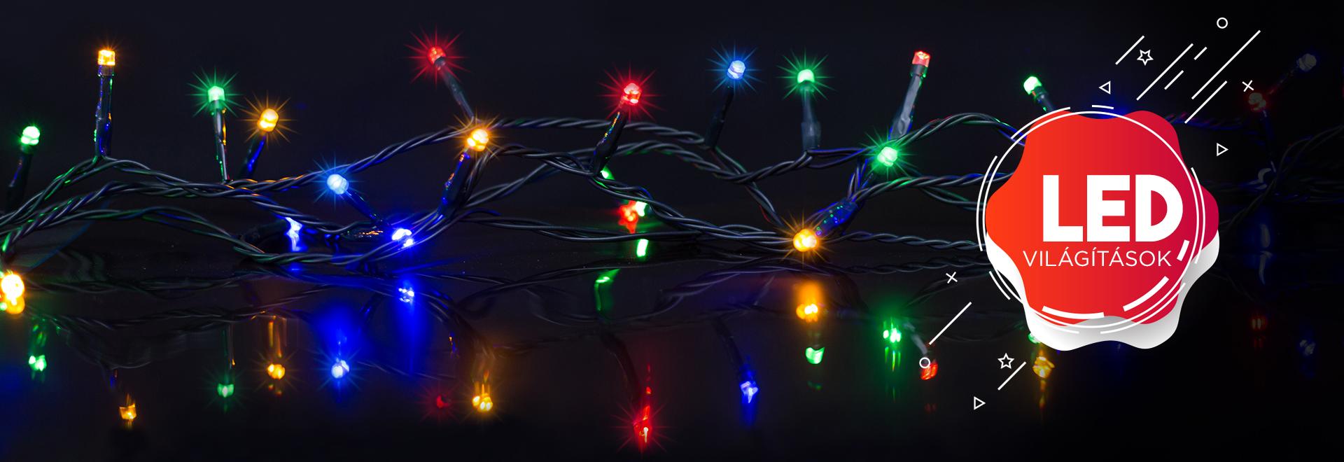 Karácsonyi fényfüzérek